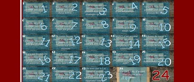 Novéquilibres : La calendrier de l'avent 2016 de la QVT