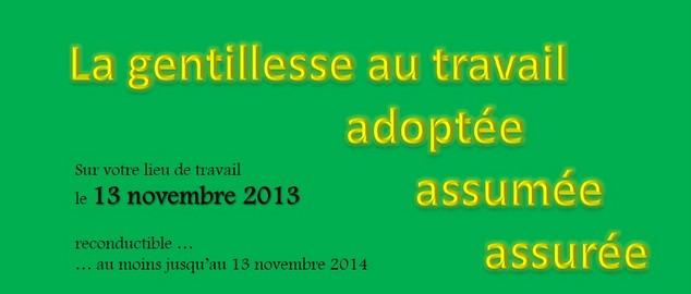 Novéquilibres : Mercredi 13 novembre 2013, journée mondiale de la gentillesse