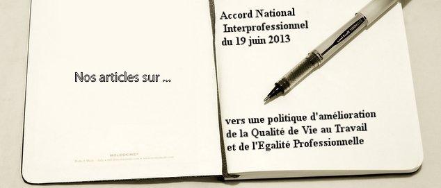 Novéquilibres : Nos articles et brèves liés à l'ANI sur la QVT et l'Egalité Prof.